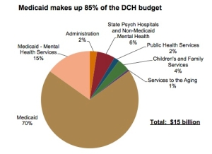Medicaid 85% of DCH budget!